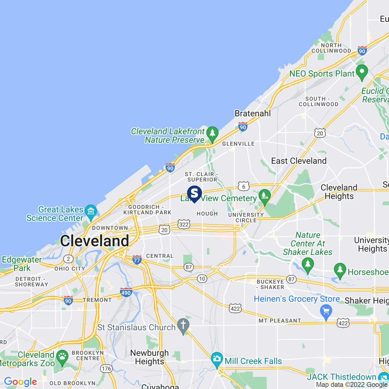 Save A Lot 7210 Superior Ave Cleveland OH location map