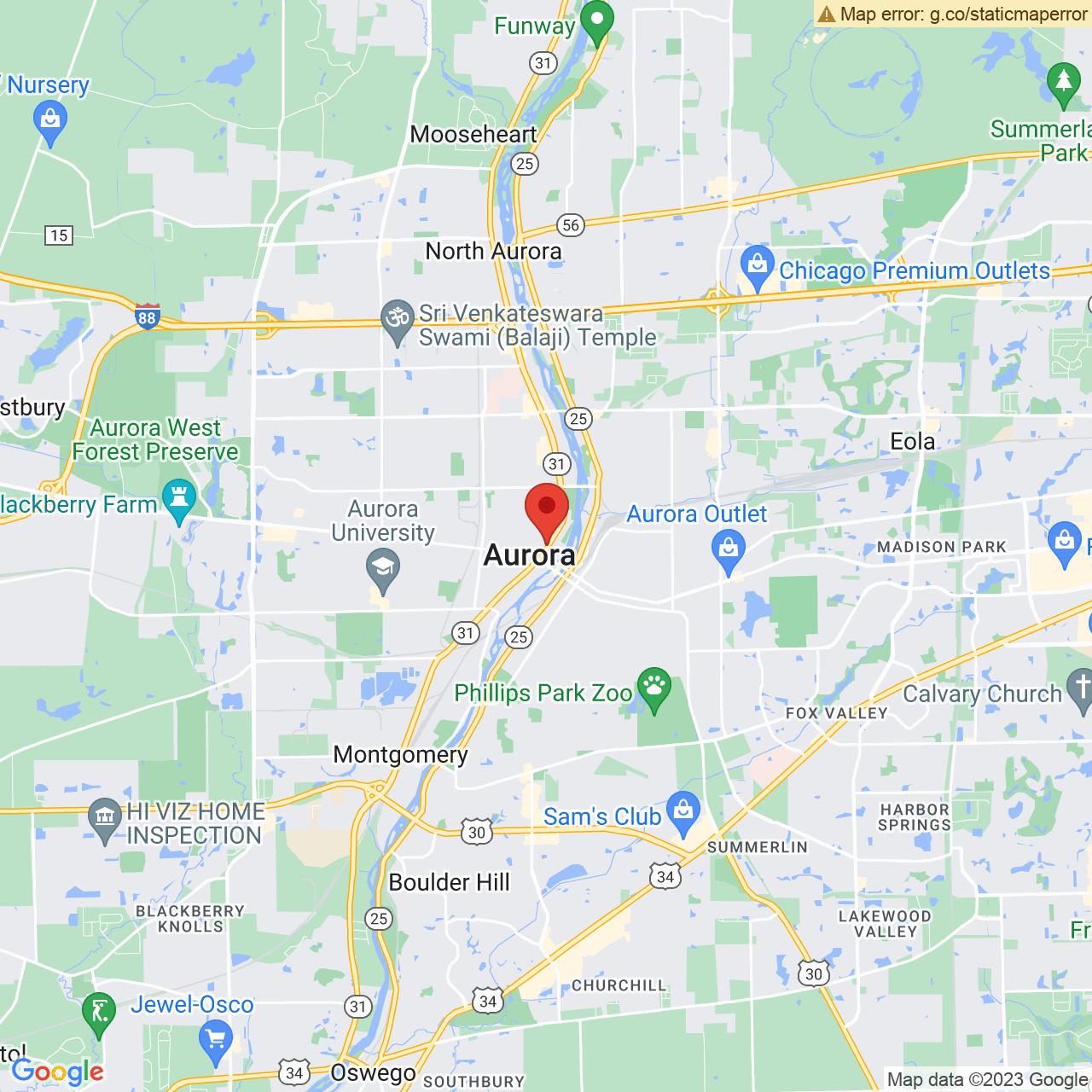 Save A Lot 210 N Lake St Aurora IL location map