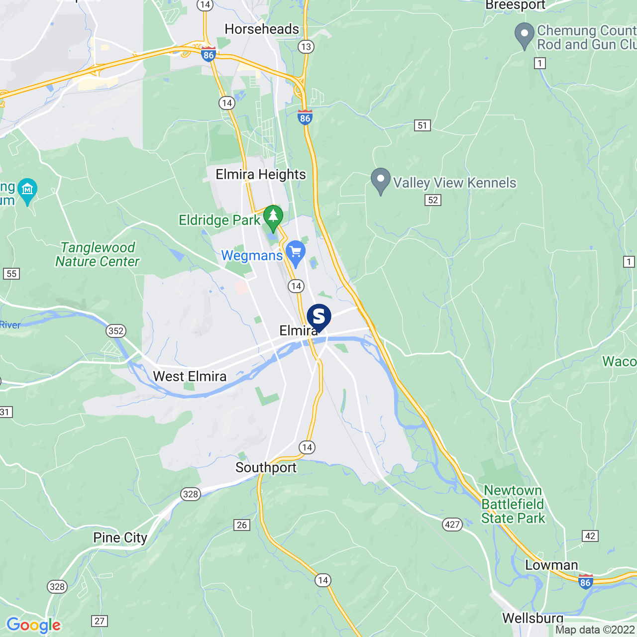 Save A Lot 308 William St Elmira NY location map