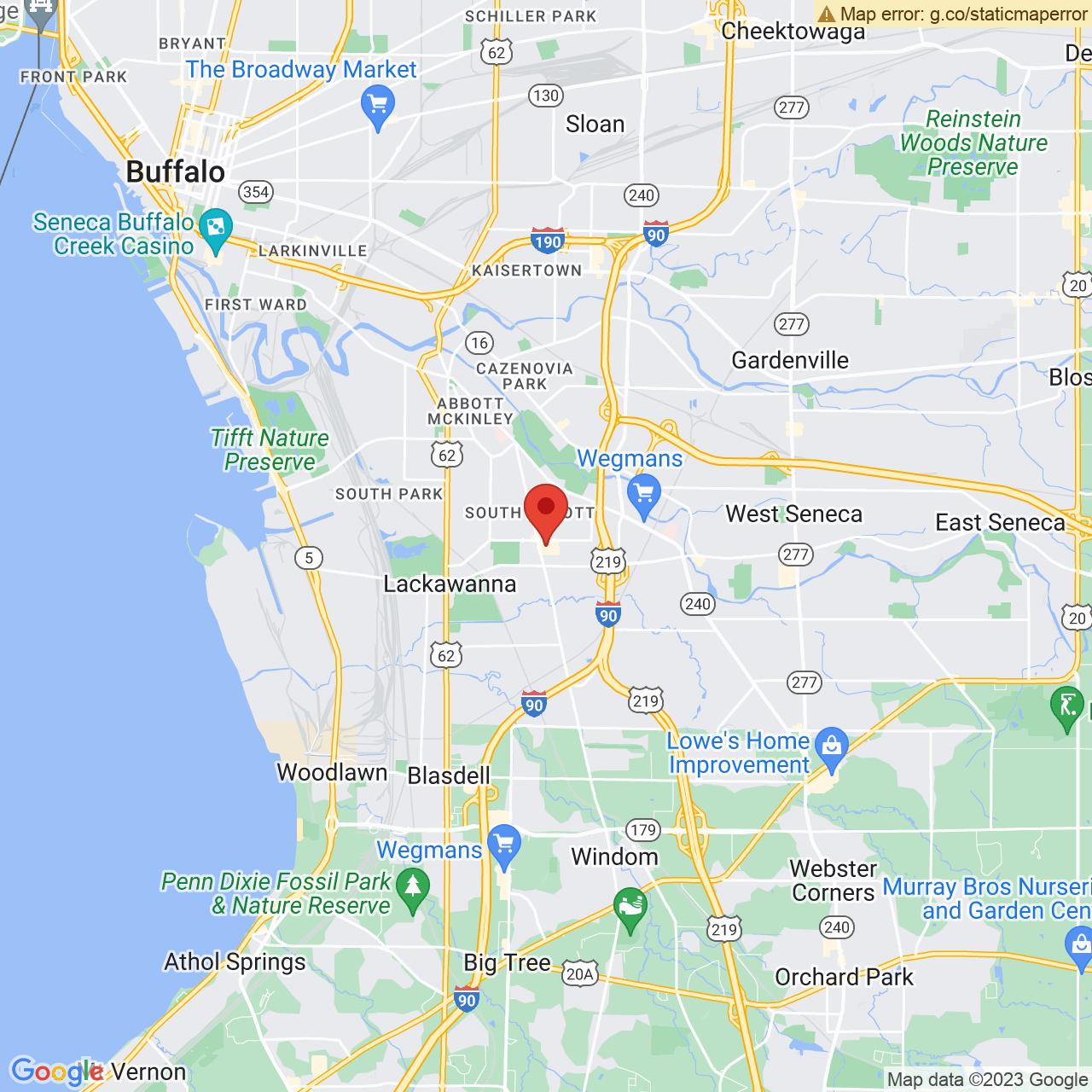 Save A Lot 1234 Abbott Rd Lackawanna NY location map