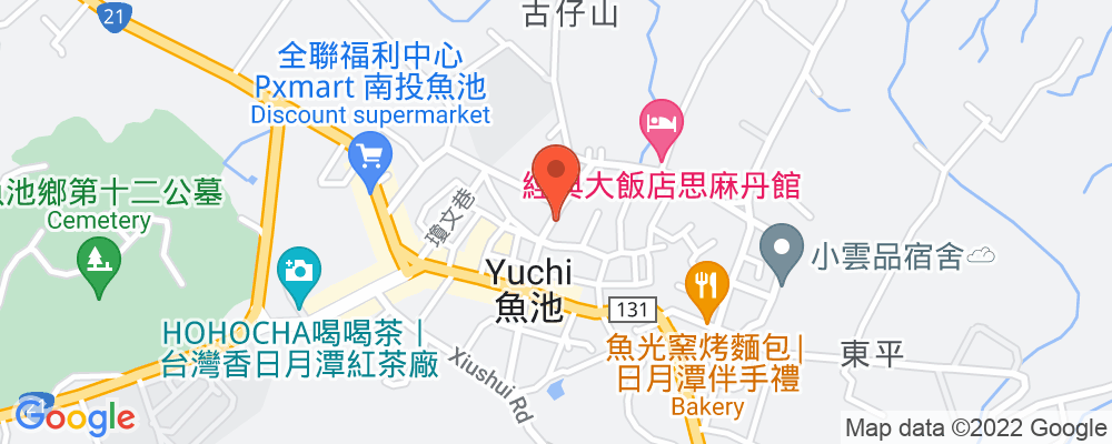 Staticmap?key=aizasyaeupgg pxecbls1w90qkhpchjmzxtq1co&center=南投縣魚池鄉新店巷26 1號&zoom=15&scale=2&size=500x200&maptype=roadmap&format=png&visual refresh=true&markers=size:mid%7ccolor:0xfb5937%7clabel:%7c南投縣魚池鄉新店巷26 1號