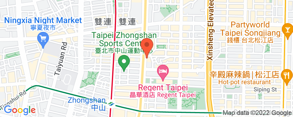 Staticmap?key=aizasyaeupgg pxecbls1w90qkhpchjmzxtq1co&center=台北市中山區中山北路二段57 1號&zoom=15&scale=2&size=500x200&maptype=roadmap&format=png&visual refresh=true&markers=size:mid%7ccolor:0xfb5937%7clabel:%7c台北市中山區中山北路二段57 1號