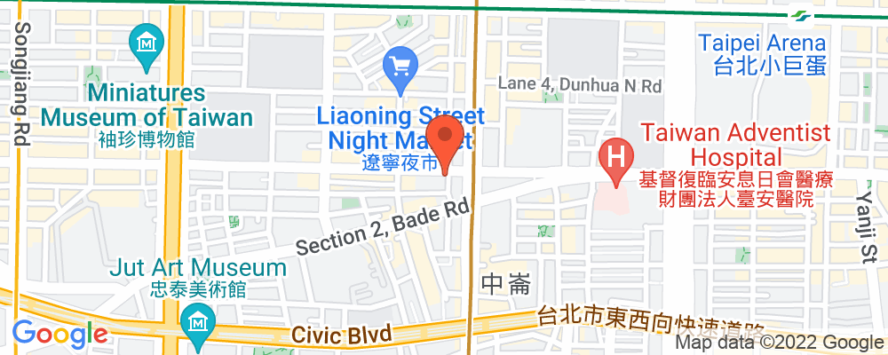 Staticmap?key=aizasyaeupgg pxecbls1w90qkhpchjmzxtq1co&center=台北市中山區長安東路二段246號4樓&zoom=15&scale=2&size=500x200&maptype=roadmap&format=png&visual refresh=true&markers=size:mid%7ccolor:0xfb5937%7clabel:%7c台北市中山區長安東路二段246號4樓
