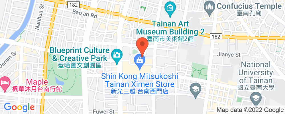 Staticmap?key=aizasyaeupgg pxecbls1w90qkhpchjmzxtq1co&center=台南市中西區和意路1號&zoom=15&scale=2&size=500x200&maptype=roadmap&format=png&visual refresh=true&markers=size:mid%7ccolor:0xfb5937%7clabel:%7c台南市中西區和意路1號