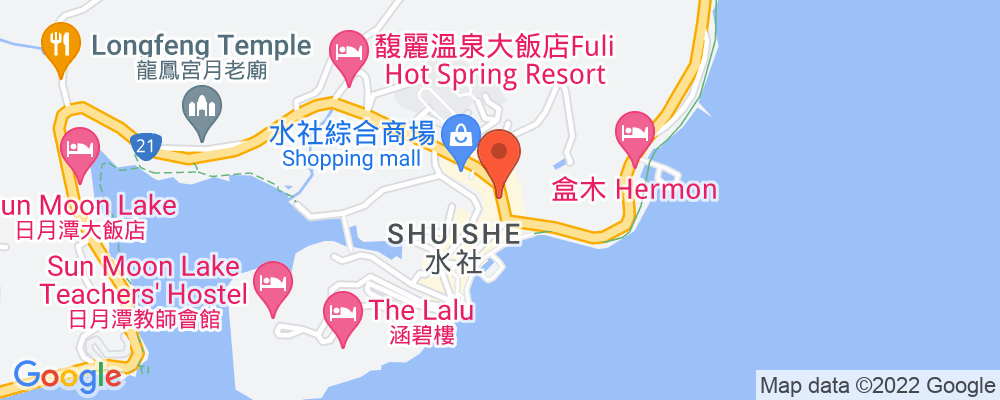 Staticmap?key=aizasyaeupgg pxecbls1w90qkhpchjmzxtq1co&center=台灣南投縣魚池鄉中山路123號&zoom=15&scale=2&size=500x200&maptype=roadmap&format=png&visual refresh=true&markers=size:mid%7ccolor:0xfb5937%7clabel:%7c台灣南投縣魚池鄉中山路123號
