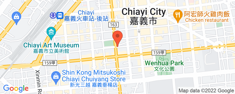 Staticmap?key=aizasyaeupgg pxecbls1w90qkhpchjmzxtq1co&center=嘉義市延平街西區&zoom=15&scale=2&size=500x200&maptype=roadmap&format=png&visual refresh=true&markers=size:mid%7ccolor:0xfb5937%7clabel:%7c嘉義市延平街西區