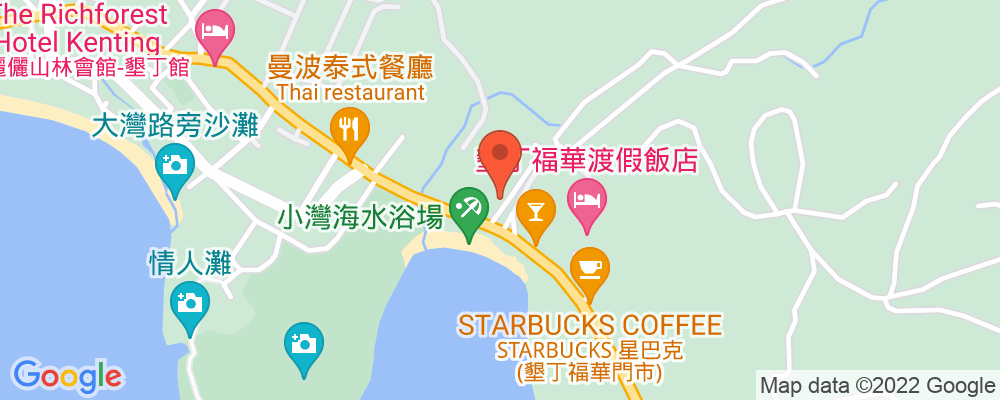 Staticmap?key=aizasyaeupgg pxecbls1w90qkhpchjmzxtq1co&center=屏東縣恆春鎮墾丁路6號&zoom=15&scale=2&size=500x200&maptype=roadmap&format=png&visual refresh=true&markers=size:mid%7ccolor:0xfb5937%7clabel:%7c屏東縣恆春鎮墾丁路6號