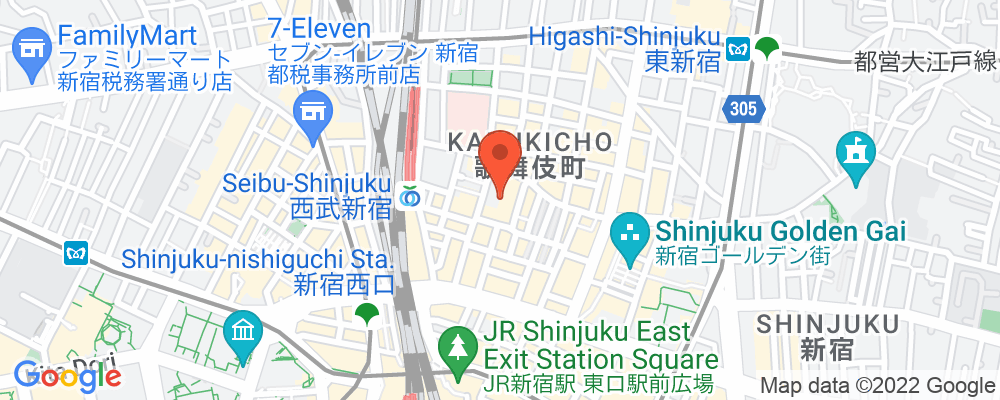 Staticmap?key=aizasyaeupgg pxecbls1w90qkhpchjmzxtq1co&center=東京都新宿区歌舞伎町1 19 1&zoom=15&scale=2&size=500x200&maptype=roadmap&format=png&visual refresh=true&markers=size:mid%7ccolor:0xfb5937%7clabel:%7c東京都新宿区歌舞伎町1 19 1