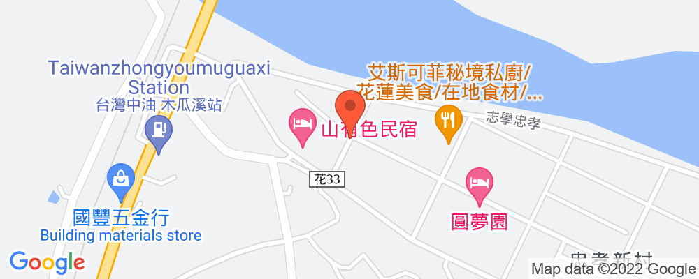 Staticmap?key=aizasyaeupgg pxecbls1w90qkhpchjmzxtq1co&center=花蓮縣壽豐鄉志學村橋下60號&zoom=15&scale=2&size=500x200&maptype=roadmap&format=png&visual refresh=true&markers=size:mid%7ccolor:0xfb5937%7clabel:%7c花蓮縣壽豐鄉志學村橋下60號