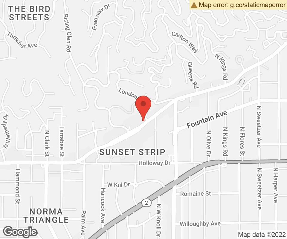 Map To: 8569 W. Sunset Boulevard, West Hollywood, CA 90069