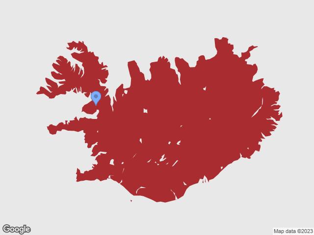 Kort af Íslandi
