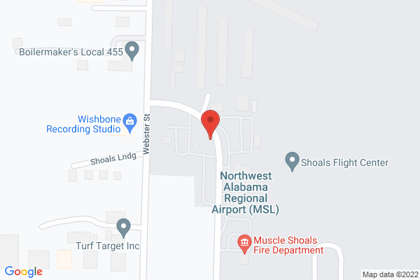 Mapped location of Northwest Alabama Regional Airport