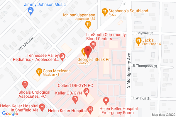 Mapped location of George's Steak Pit