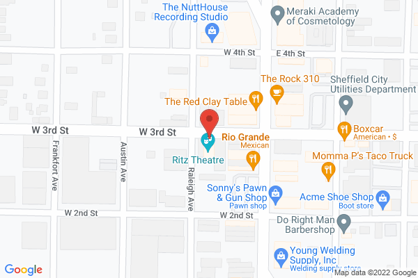 Mapped location of The Ritz Theatre