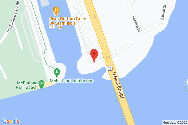 Mapped location of Stanfield's Riverbottom Grill