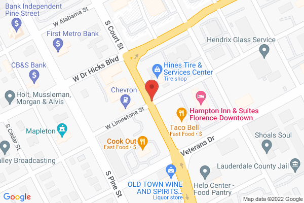 Mapped location of First Fridays