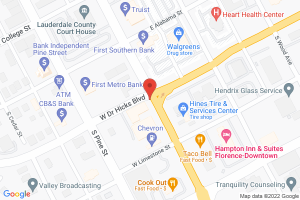 Mapped location of Great American Hotel