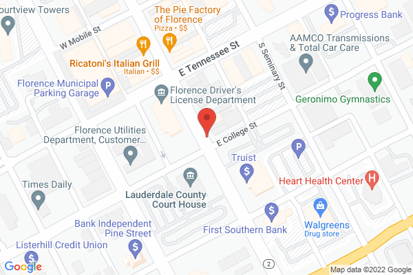 Mapped location of First Friday Florence Concert