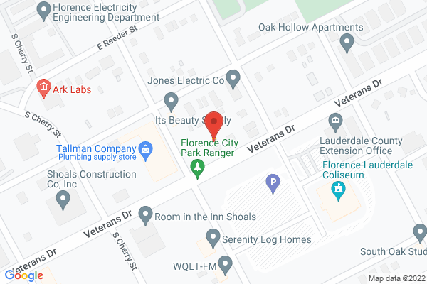 Mapped location of Florence-Lauderdale Coliseum