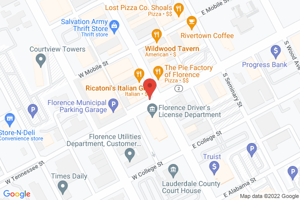 Mapped location of Ricatoni's Italian Grill