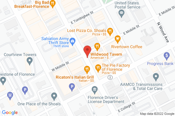 Mapped location of Wildwood Tavern