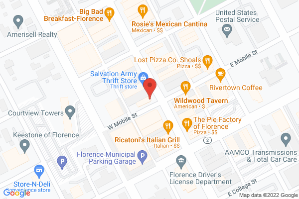 Mapped location of Jack's Bistro