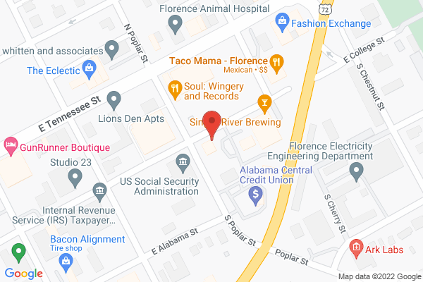 Mapped location of College Street Farmers Market