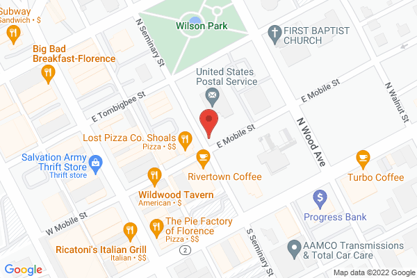 Mapped location of Legends Steakhouse