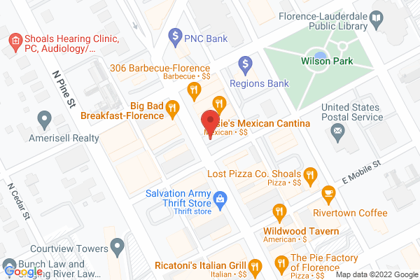 Mapped location of 306 BBQ