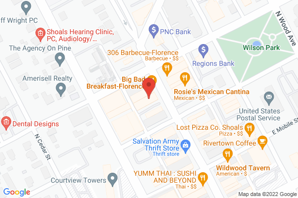 Mapped location of FloBama Earlybird Countdown Event