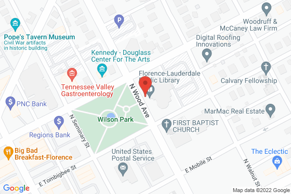 Mapped location of Bookmarks Coffee Shop