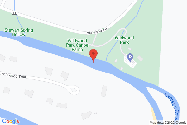Mapped location of UNA Trail Cleanup at Wildwood Park