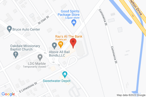 Mapped location of Stagg's Grocery