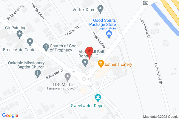 Mapped location of Ray's at the Bank