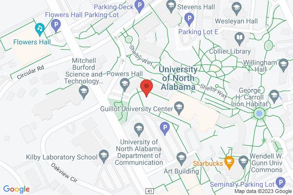 Mapped location of UNA Planetarium Public Night