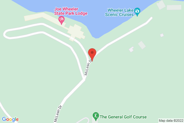 Mapped location of Joe Wheeler State Park