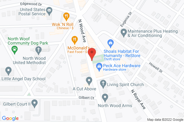 Mapped location of Sugarbakers