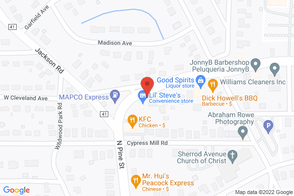 Mapped location of Dick Howell's BBQ