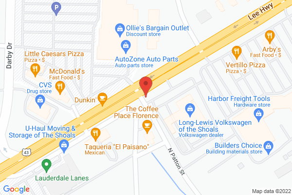 Mapped location of Pizza Hut