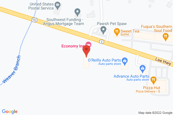 Mapped location of Economy Inn