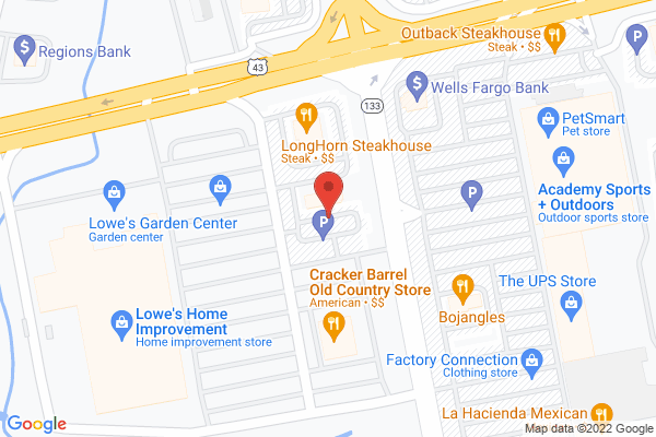 Mapped location of Krispy Kreme