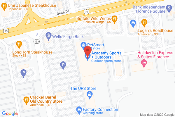 Mapped location of Academy Sports