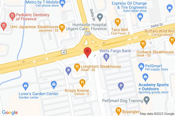 Mapped location of Hibachi Japanese Steakhouse