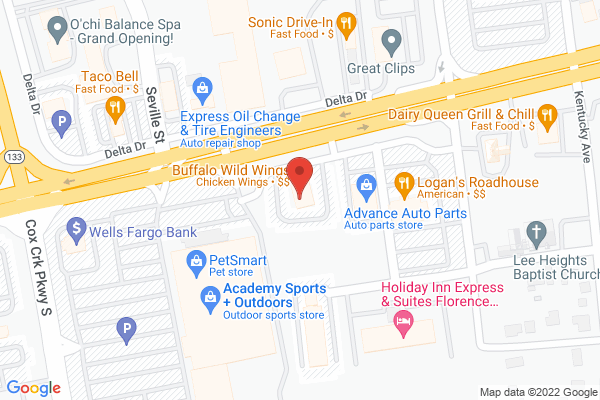 Mapped location of Buffalo Wild Wings