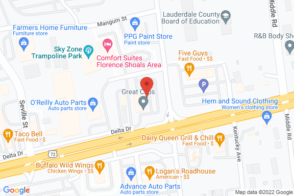 Mapped location of Panda Express