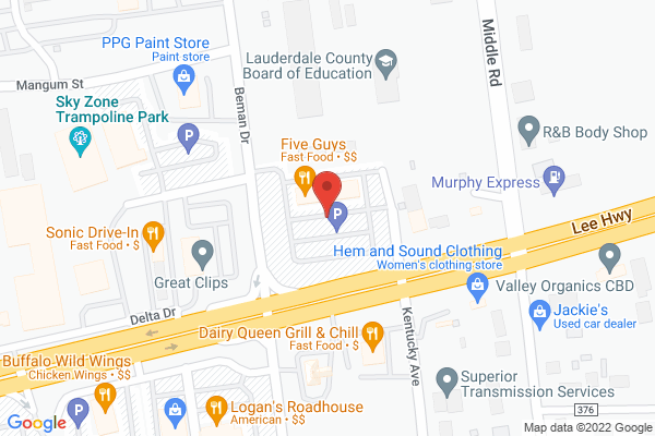 Mapped location of Five Guys Burgers