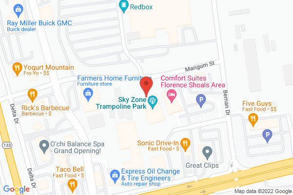 Mapped location of Sky Zone Trampoline Park