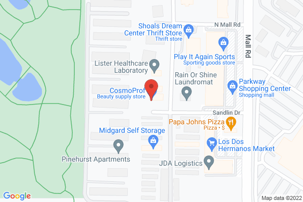 Mapped location of Godfather's Pizza