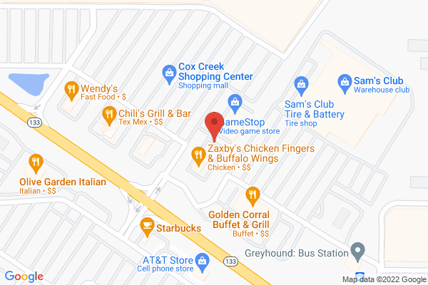 Mapped location of Zaxby's