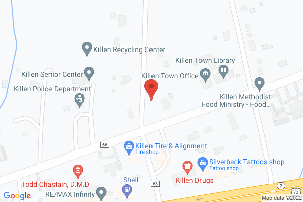 Mapped location of Killen Masonic Lodge 788  Pancake Breakfast